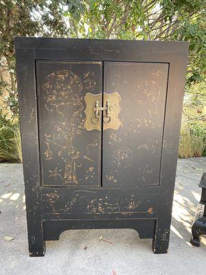 Antique Black Cabinet for Sale in Newport Beach, CA