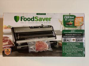 FoodSaver FM5200 2-in-1 Food Preservation System Vacuum Sealer w/ Express Bag Maker for Sale in Garden Grove, CA