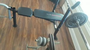 BENCH AND WEIGHTS for Sale in Charlotte, NC