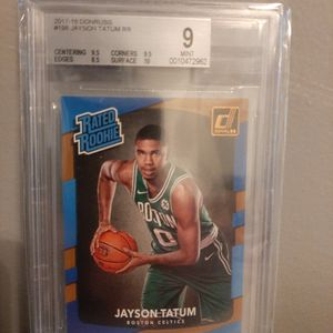 2017-18 Donruss Rated Rookie Jayson Tatum Graded BGS 9 Mint Rc for Sale in Alexandria, VA