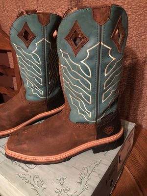 Justin work boots for Sale in Choctaw, OK