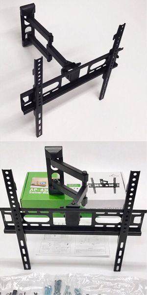 New in box 22 to 55 inches swivel full motion tv television wall mount bracket flat screen monitor 90 lbs capacity soporte de tv for Sale in Santa Fe Springs, CA