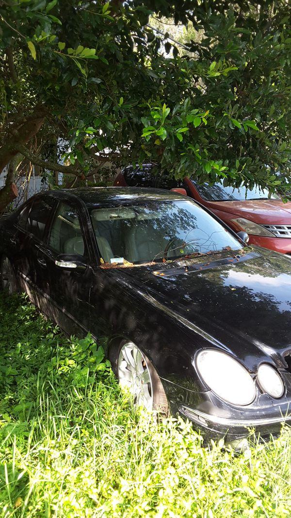 2003 Mercedes. 4 door . C class . Black . For parts .