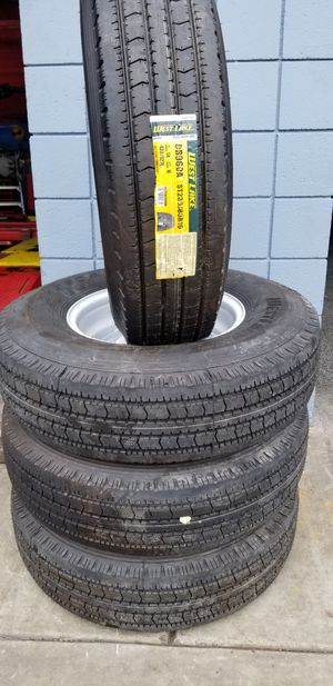 235/85R16 H/D 14 ply trailer tire and rim package for Sale in La Mirada, CA