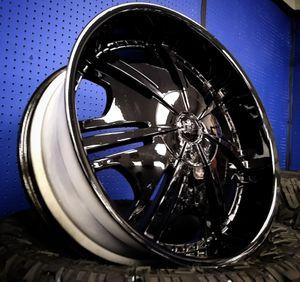 24-in black deep dish Rims & Tires for Sale in Longwood, FL