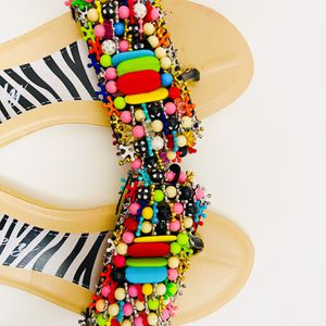 Pearl And Beads All Over Flip Flop - Size 9.5 for Sale in Frederick, MD