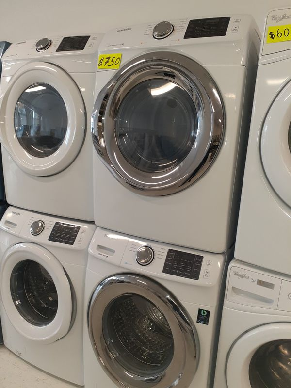 Samsung front load washer and electric dryer set in excellent condition with 90 days warranty
