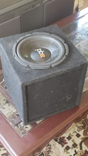 """10"""" power bass with box for Sale in Santa Maria, CA"""