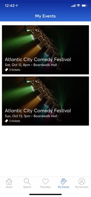 Comedy Tickets Atlantic City for Sale in Bloomfield, CT