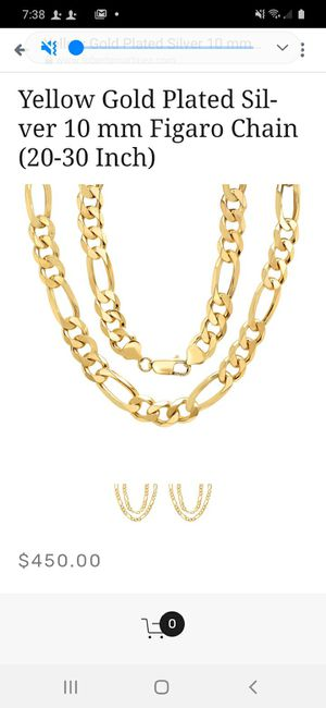 Gold plated 30 inch Figaro style chain for Sale in Richland, WA