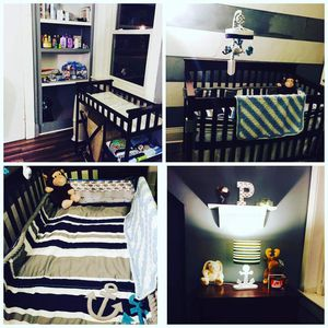 Infant bed changing table and clothes hamper for Sale in Portsmouth, VA
