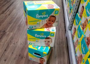 Baby pampers All sizes and wipes for Sale in Fort Lauderdale, FL