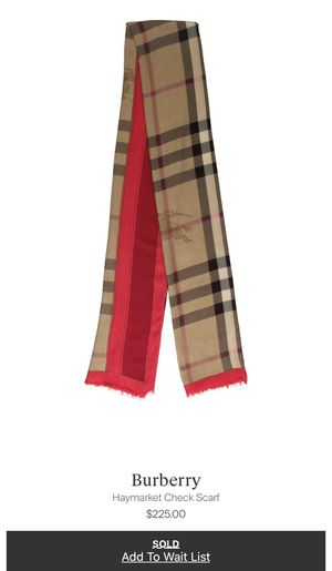 Burberry Haymarket Nova Check Scarf Red Pink Coral for Sale in Washington, NJ