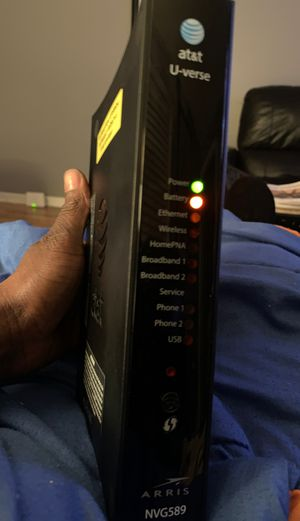 Arris AT&T U-Verse NVG589 router for Sale in McDonough, GA