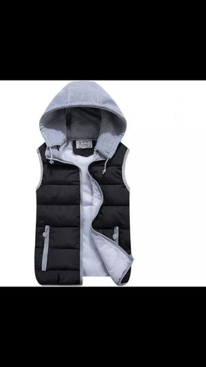 Winter Vest For Men And Women Hooded Sleeveless Soft Warm Jacket Sweater Zipper size as kids 10-12 for Sale in Inman, SC
