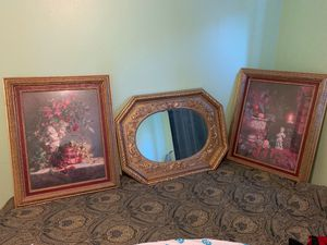Interior design framed art and mirror for Sale in San Diego, CA
