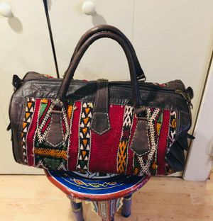 Moroccan handmade leather travel bag for Sale in Seattle, WA
