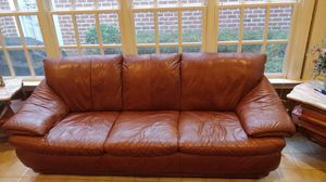 Real Leather Sofa Couch (Original Jennifer Leather couch) for Sale in Rockville, MD