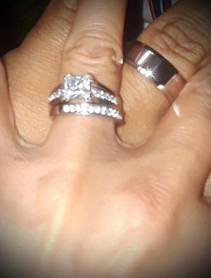 Engagement/Wedding Ring Set Sterling Silver/Stainless Steel His/Hers *Brand New* for Sale in El Cajon, CA