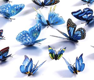 Brand new Butterfly Wall Decals 24Pcs 3D Butterflies Wall Stickers Removable, Mural Decor for Kids Room Bedroom Decor Living Room Decor (Blue) for Sale in Baltimore, MD