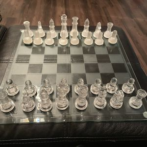 Glass Chess Board Game-pending PU for Sale in Tigard, OR