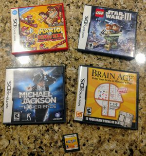 Nintendo DS Games (Star Wars, Mario, Michael Jackson, Brain Age) for Sale in Snohomish, WA