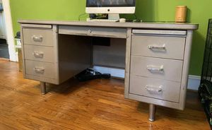 Vintage bomber style industrial desk for Sale in Fort Worth, TX