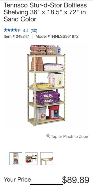 Boltless storage shelving for Sale in Los Angeles, CA