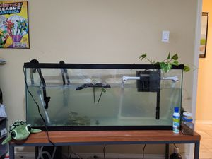 55 gallon aquarium and filter system for Sale in Sugar Land, TX