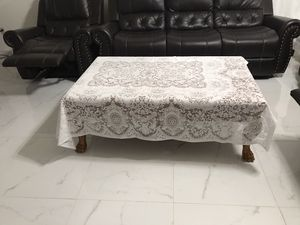 Coffee table with table cloth. for Sale in Dallas, TX