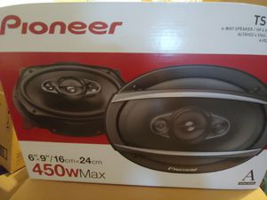 Car speakers : Pioneer 4 way 450 watts car speakers Brand new for Sale in Santa Ana, CA