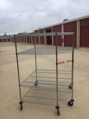 Shelving steel with wheels for Sale in Roanoke, TX