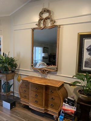 Sideboard with matching beveled mirror for Sale in Arlington, TX