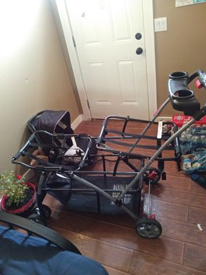 Double stroller one car seat for Sale in Georgetown, TX