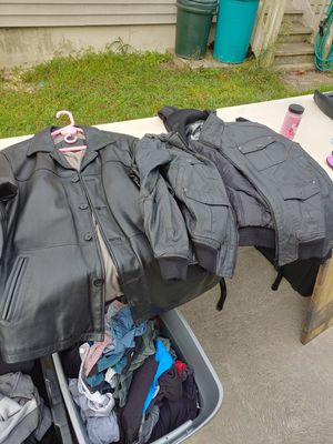 Young mens clothes jackets $10 sweatshirts pullovers 5 bucks sweatpants 5 bucks t-shirts $3 for Sale in Forked River, NJ