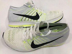 Nike Flyknit Streak White & Black & Volt Men's Running Shoes 835994-107 for Sale in Fairfax, VA