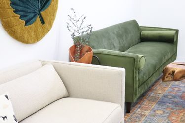 READ AD Mid Century Modern Inspired Sofa Loveseat Planters Pot Pots Planter Vase Art Desk Bookcase Seattle Dresser Lamp Chair Couch Pl for Sale in Seattle,  WA