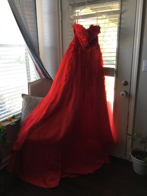 Red ball gown dress for Sale in Lewisville, TX