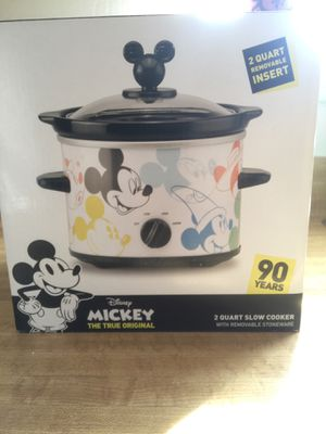 New Disney Mickey Mouse 90th Anniversary 2 Qt. Slow Cooker W / Removable Stoneware (pick up only) for Sale in Alexandria, VA