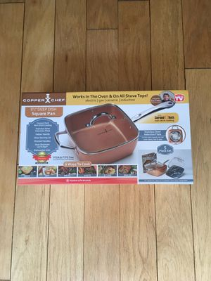 """Copper Chef 9.5"""" Deep Dish Square Pan for Sale in Los Angeles, CA"""
