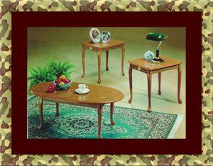 3pc coffee table oak for Sale in Rockville, MD