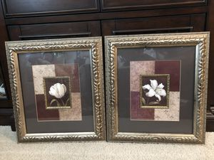 DECORATE that BLANK SPACE with this BEAUTIFUL, ORNATE SET OF 2 FRAMED PICTURES! for Sale in Aldie, VA