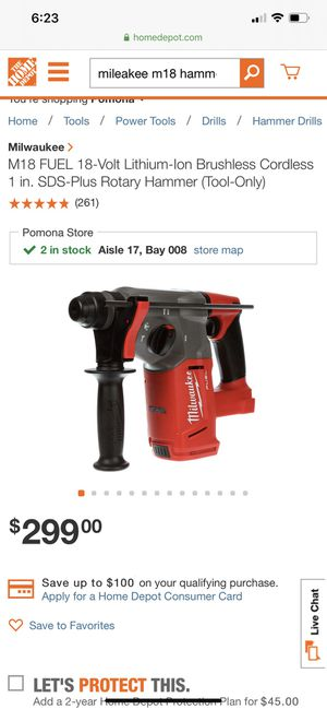 Milwaukee m18 hammer drill for Sale in Pomona, CA