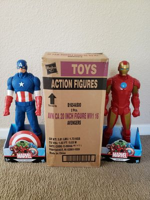 Marvel Avengers 20 inch Iron Man and Captain America set for Sale in Fairfield, CA