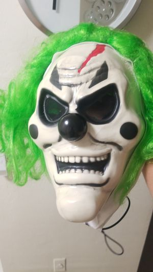 Clown mask that lights up for Sale in Miami, FL