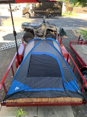 16' trailer great for quads/camping or anything you want heavy duty build. Comes with everything in pictures except quad . Can buy quad separately. for Sale in White City, OR