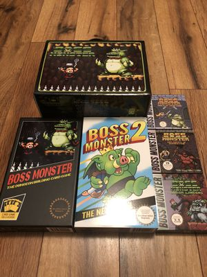 Boss Monster card/board game with expansions and Mat. for Sale in Hillsboro, OR