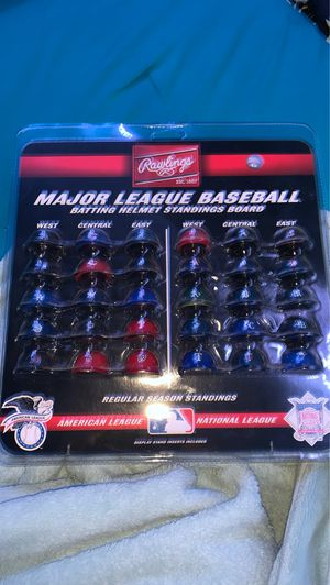 Major League Baseball Batting helmets standings board for Sale in Scottsdale, AZ