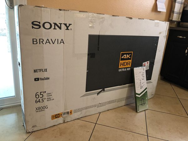 "2019 65"" SONY BRAVIA 4K ULTRA HDR HD SMART TV FREE CABLE & MOVIES"