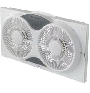Comfort Zone Expandable Reversible Twin Window Fan with Remote Control 3speed for Sale in Las Vegas, NV